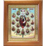 Древо Пресвятой Богородицы, икона в широкой рамке 19*22,5 см - Иконы