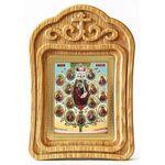 Древо Пресвятой Богородицы, икона в резной деревянной рамке - Иконы