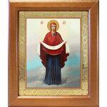 Покров Пресвятой Богородицы, икона в широкой рамке 19*22,5 см - Иконы