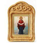 Покров Пресвятой Богородицы, икона в резной деревянной рамке - Иконы