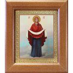 Покров Пресвятой Богородицы, икона в широкой рамке 14,5*16,5 см - Иконы