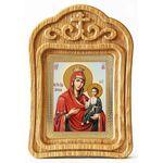 Иверская икона Божией Матери, в резной деревянной рамке - Иконы
