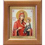 Иверская икона Божией Матери, широкая рамка 14,5*16,5 см - Иконы