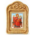 """Икона Божией Матери """"Всецарица"""", в резной деревянной рамке - Иконы"""