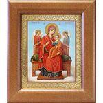 """Икона Божией Матери """"Всецарица"""", широкая рамка 14,5*16,5 см - Иконы"""