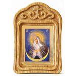 Икона Божией Матери Остробрамская Виленская, резная деревянная рамка - Иконы