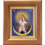 Икона Божией Матери Остробрамская Виленская, широкая рамка 14,5*16,5 см - Иконы