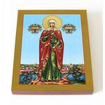 Мученица Валерия Кесарийская, Калерия, икона на доске 8*10 см - Иконы