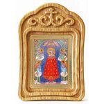 """Икона Божией Матери """"Прибавление ума"""", резная деревянная рамка - Иконы"""