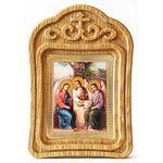 Святая Троица, икона в резной рамке - Иконы