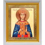 Великомученица Екатерина Александрийская, белый киот 19*22 см - Иконы
