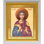 Мученик Вонифатий Тарсийский, икона в белом киоте 19*22 см - Иконы
