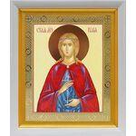 Мученица Иулия Карфагенская, икона в белом киоте 19*22 см - Иконы