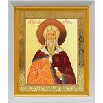 Илия Пророк, икона в белом киоте 19*22 см - Иконы