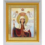 Великомученица Параскева Пятница, икона в белом киоте 19*22 см - Иконы