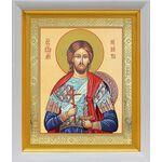 Великомученик Никита Готфский, икона в белом киоте 19*22 см - Иконы