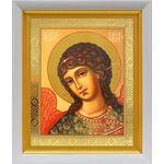 Архангел Гавриил, икона в белом киоте 19*22 см - Иконы