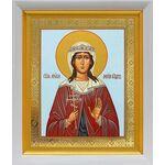 Мученица Лариса Готфская, икона в белом киоте 19*22 см - Иконы