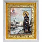 Благоверная княгиня Анна Кашинская, икона в белом киоте 19*22 см - Иконы