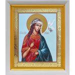 Великомученица Ирина Македонская, белый киот 19*22 см - Иконы