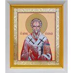 Святитель Мирон Критский, икона в белом киоте 19*22 см - Иконы