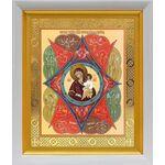 """Икона Божией Матери """"Неопалимая Купина"""", в белом киоте 19*22 см - Иконы"""