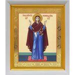 """Икона Божией Матери """"Нерушимая Стена"""", в белом киоте 19*22 см - Иконы"""