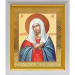 """Икона Божией Матери """"Умиление"""", белый киот 19*22 см - Иконы"""