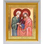 Праведные Иоаким и Анна, икона в белом киоте 19*22 см - Иконы