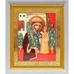 """Икона Божией Матери """"Неувядаемый Цвет"""", в белом киоте 19*22 см - Иконы"""