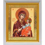 Иверская икона Божией Матери, в белом киоте 19*22 см - Иконы
