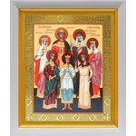 Святые царственные страстотерпцы, икона в белом киоте 19*22 см - Иконы