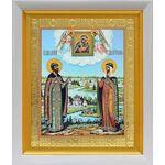 Благоверные князья Петр и Феврония, в белом киоте 19*22 см - Иконы