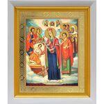 """Икона Богородицы """"Целительница"""" и святые врачеватели, белый киот 19*22 - Иконы"""