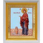 """Икона Божией Матери """"Геронтисса"""", белый киот 19*22 см - Иконы"""