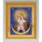 Икона Божией Матери Остробрамская Виленская, белый киот 19*22 см - Иконы