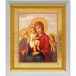 """Икона Божией Матери """"Трех Радостей"""", белый киот 19*22 см - Иконы"""