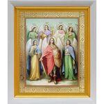 Собор Архангела Михаила, икона в белом киоте 19*22 см - Иконы