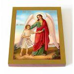 Ангел Хранитель с душой человека, на доске 13*16,5 см - Иконы