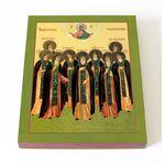Важеозерские чудотворцы, икона на доске 13*16,5 см - Иконы