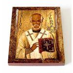 Святитель Григорий Чудотворец, епископ Неокесарийский, доска 13*16,5см - Иконы