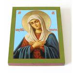 """Икона Божией Матери """"Умиление"""", печать на доске 13*16,5 см - Иконы"""