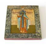 Преподобный Александр Ошевенский, икона на доске 14,5*16,5 см - Иконы
