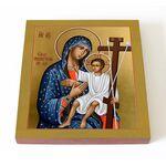 Новоникитская икона Божией Матери, печать на доске 14,5*16,5 см - Иконы