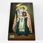 Святитель Спиридон Тримифунтский ростовой, икона на доске 20*40 см - Иконы