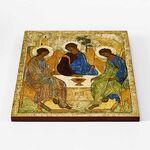 Святая Троица, Андрей Рублев, XV в, икона на доске 30*36 см - Иконы