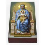 Богородица на Престоле, икона на доске 7*13 см - Иконы