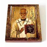 Святитель Григорий Чудотворец, епископ Неокесарийский, доска 8*10 см - Иконы
