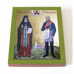 Преподобный Феодор Санаксарский и праведный Феодор Ушаков, доска 8*10 - Иконы