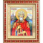 Равноапостольный князь Владимир, икона в рамке с узором 19*22,5 см - Иконы